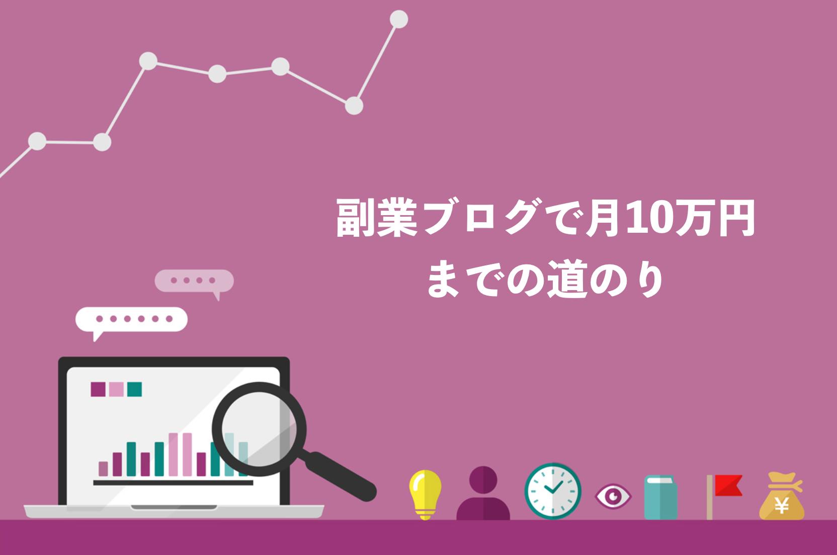 副業ブログで月10万円稼ぐまでの収益推移